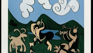Calder painting, Picasso linocut top Cottone art sale