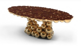 Boca Do Lobo unveils Newton dining table Inspired by Newton's law of gravity