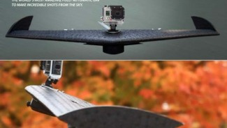 Lehmann Aviation's lightweight, fully-automatic LA100 UAV is the first flying platform for GoPro users
