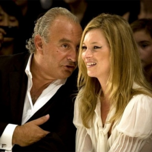 Phillip Green and Kate Moss