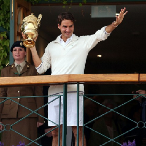 Winner of Wimbledon 2012 men, Roger Federer