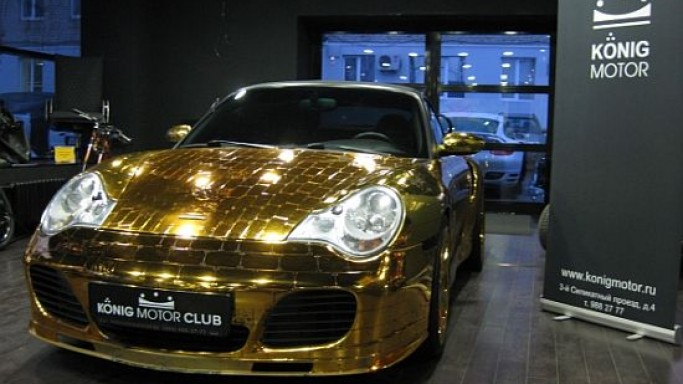 The Gold Plated Porsche 996 Turbo Cabriolet from Russia to sell for $69,640