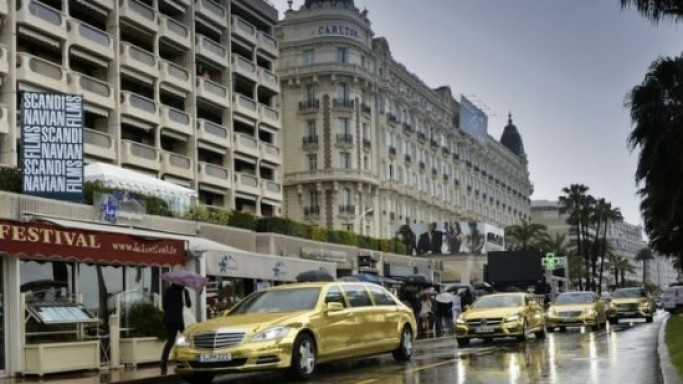 Mercedes Gold-Wrapped cars add more glamour to Cannes film festival