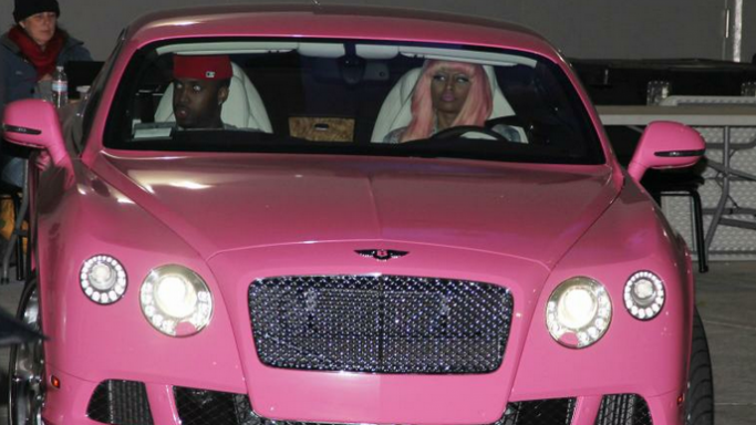 She is the proud owner of the luxurious pink Bentley Continental GT