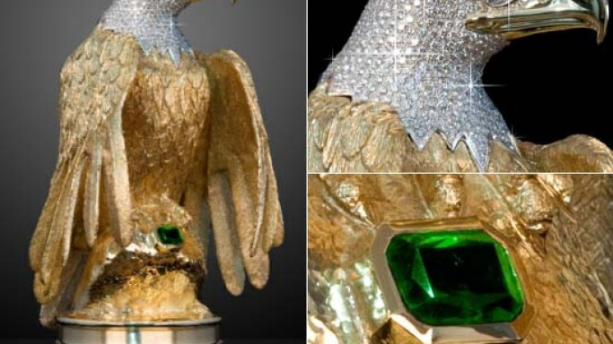 $6 Million Golden Eagle: One of the world's largest gold statue goes on sale for breast cancer charity