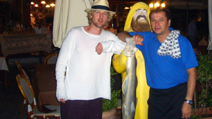 Owen Wilson on vacation in Sardinia