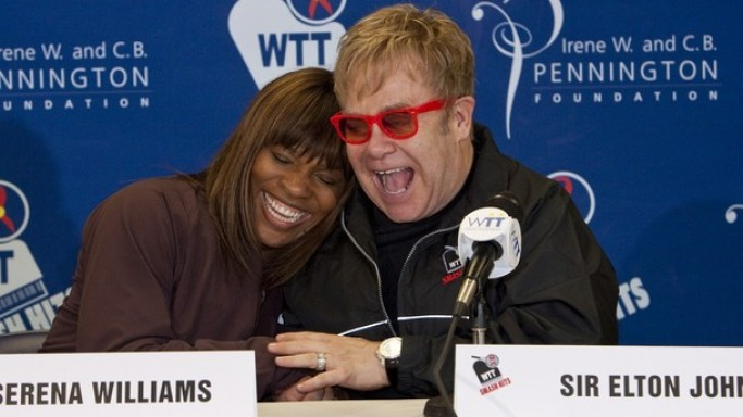Both sisters, Serena and Venus are actively supporter of  Elton John AIDS Foundation.