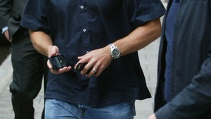 Matt Damon, sporting a Tag Heuer wristwatch.
