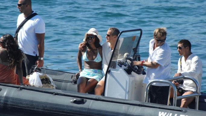 Naomi Campbell on vacations in Ibiza