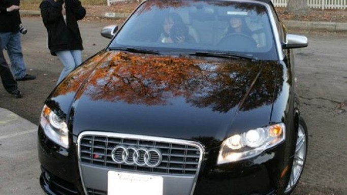The Audi S4 was a 19th birthday gift for the actress Vanessa and she has still retained it for driving around.