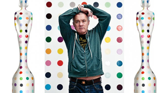Damien Hirst designs 2013 BRIT Award Statuettes with his signature bright, multi-colored polka-dots