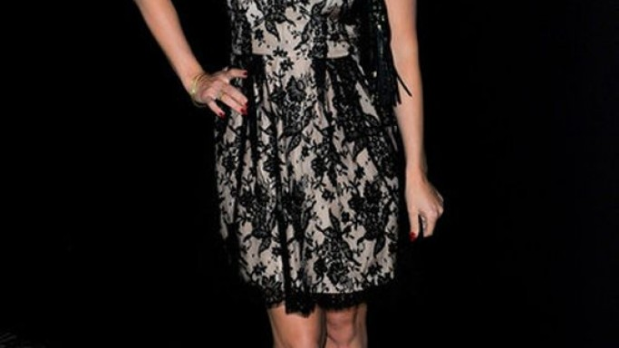 Brook attended the 2012 London fashion week wearing the fashionable Issa Spring Lace dress.