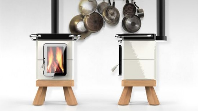 Adriano Design Presents CookingStack wood stove and ThermoStack stove-centered heating system