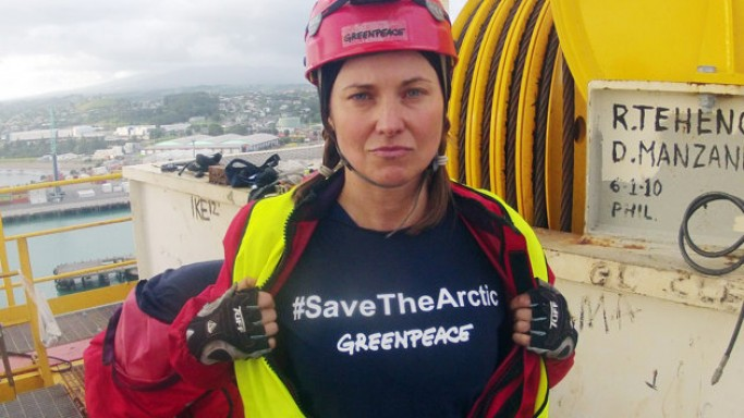 Lucy Lawless supports Greenpeace