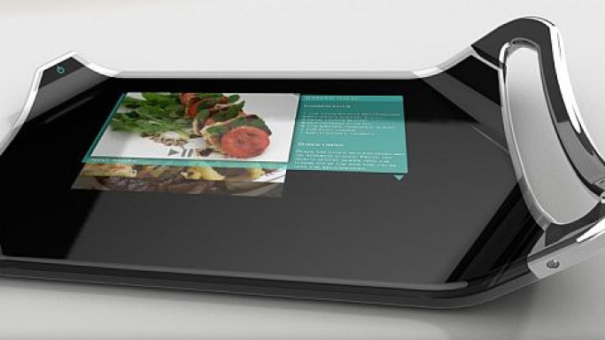 Eco-friendly Cutting Board with built-in flexible LCD display