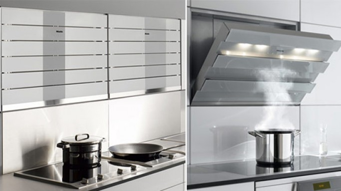 Miele's new disappearing cooker hood moves the air in style