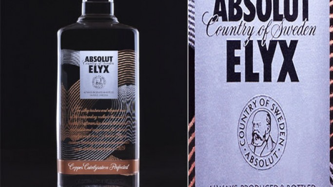 Absolut Elyx super-premium vodka is hand-crafted in single batches