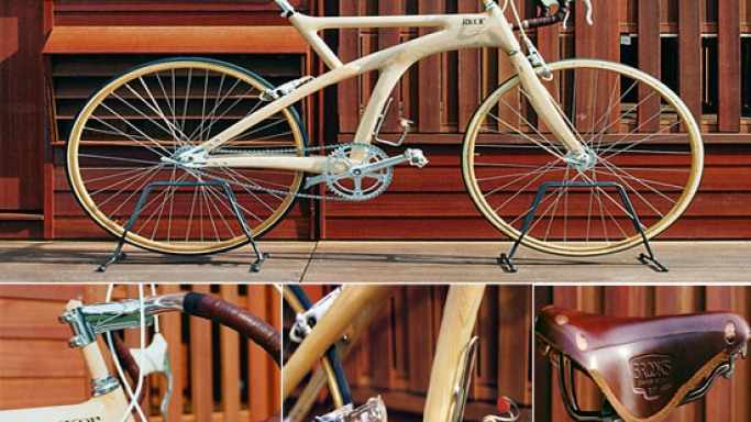 Elegant Ricor's wooden bike for a luxurious ride