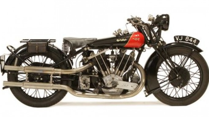 Rare 1928 Coventry Eagle Flying-8 motorbike up for grabs at Bonhams Quail lodge auction