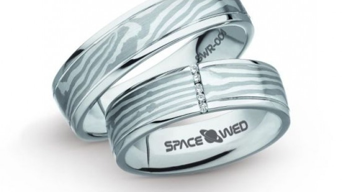 Limited edition Space wedding rings from Spacewed fuels the space mania
