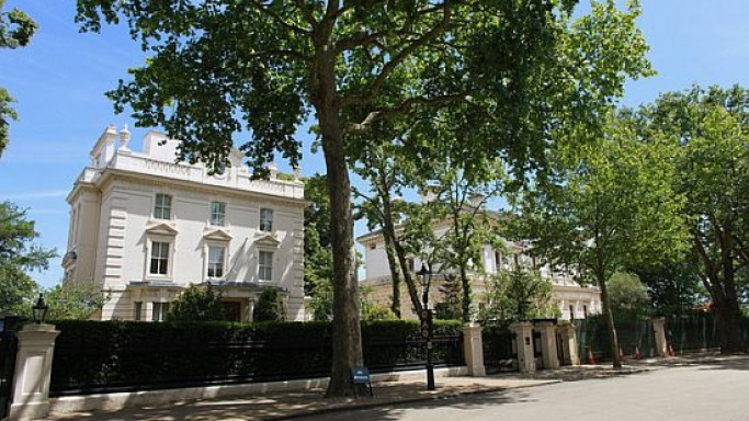 A home in one of the Britain's most expensive streets is listed at $158 million