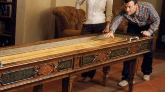 $7,500 Wiltshire Shuffle Board Table for a plush gaming room