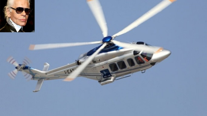 Karl Lagerfeld to design VIP Helicopters