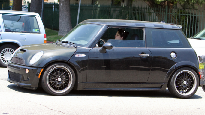 Mini Cooper car - Color: Black  // Description: splendid