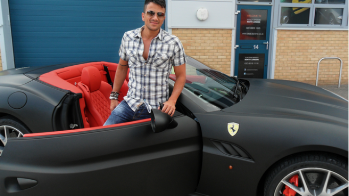 photo of Peter Andre Ferari - car