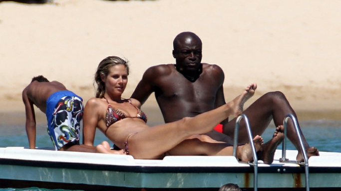 Seal and Heidi Klum on vacations