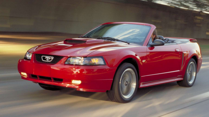 Ford Mustang car - Color: Red  // Description: cool