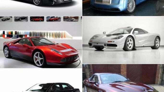 Custom cars of the rich and the famous