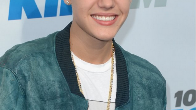 Justin Bieber sporting a Jacob & Co. 9.69ct Diamond Whistle to KIIS F.M. Wango Tango.