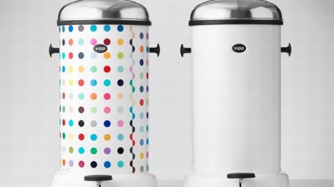 Damien Hirst's Limited Edition Vipp Trash Bin
