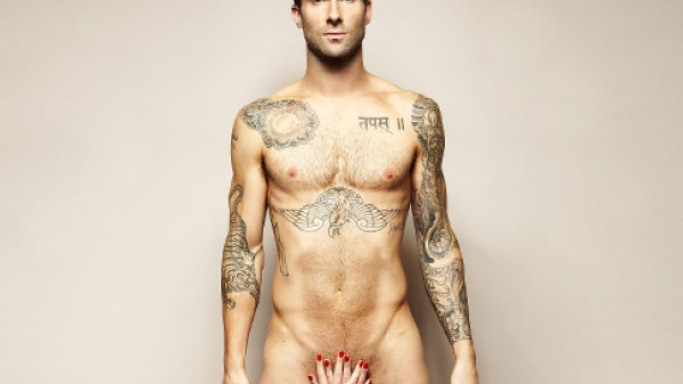 In a bid to spread awareness of testicular cancer, Adam Levine bared it all - well almost all - in front of the camera.