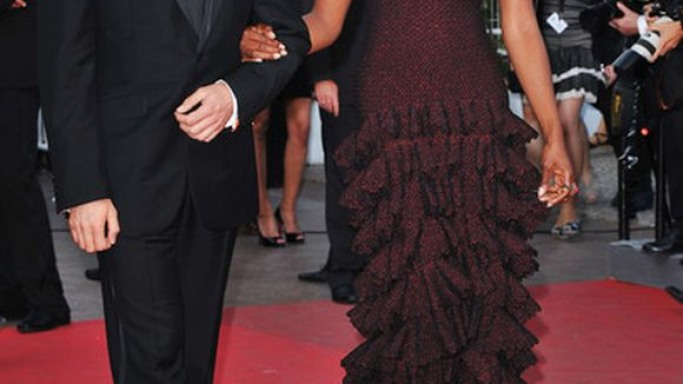 Black Supermodel Naomi Campbell was spotted attending the 64th Cannes Film Festival (May 17th, 2011) wearing the stunning tired floor length gown by Azzedine Alaia.