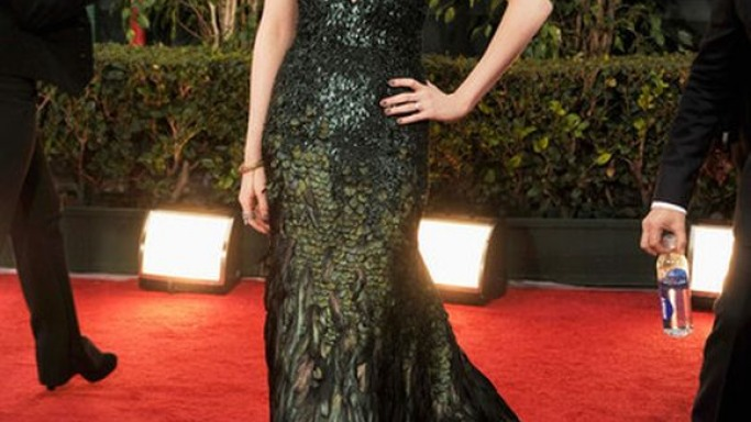 Evan Rachel Wood was seen wearing the snake ring when attending the Golden Globe Awards Ceremony, 2012.