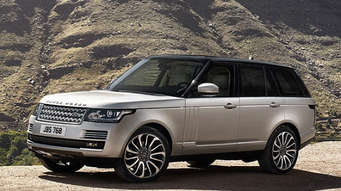 Range Rover car - Color: Cream  // Description: elegant