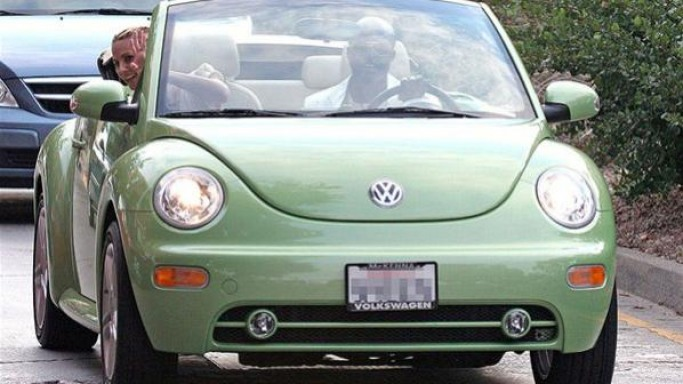 Seal drives Volkswagen Beetle Cabriolet