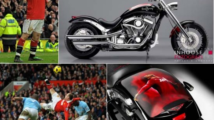 Wayne Rooney's diamond-encrusted motorcycle up for sale at Bonhams