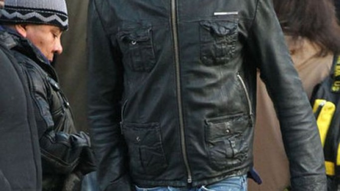 Josh donned Superdry Brad Leather Jacket