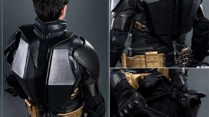 The Dark Knight Rises Batman Backpack crafted in leather for everyday use