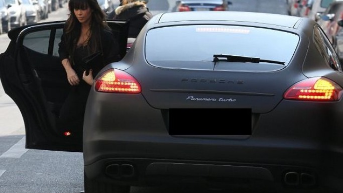 Kim Kardashian drives Porsche Panamera Turbo