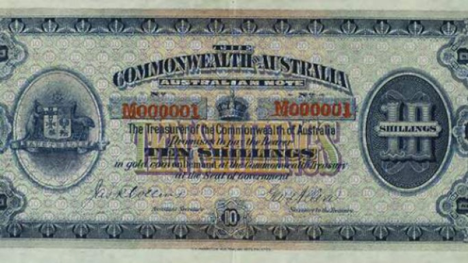 Australia's first banknote printed 100 years ago has gone on sale for $3.6 million
