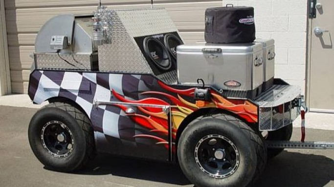 NASCAR-themed BBQ grill lets you roar up a meal