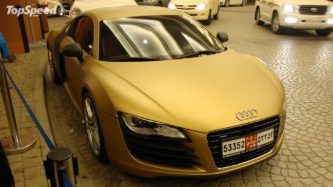 Golden Audi R8 super car: It's a gold rush in Dubai