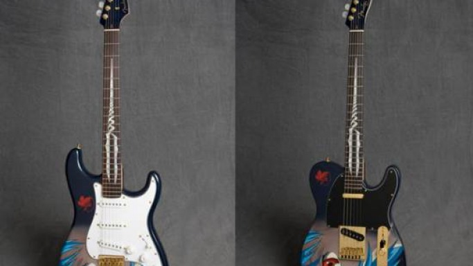 Limited edition Fender Evangelion guitar goes on auction today