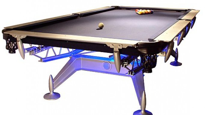 $100,000 Dynasty pool table complements the lavish lifestyle in your gaming room